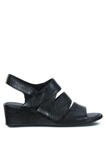940d7b09cf7c Buy ECCO Shape 35 Wedge Sandal Black Trento Online on ZALORA Singapore