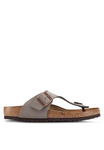 Birkenstock 灰色 Ramses Birko-Flor Nubuck Sandals 5F5B6SHD392F07GS_1