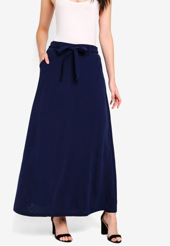 BYN navy Long Skirt 951E9AAED227BCGS_1