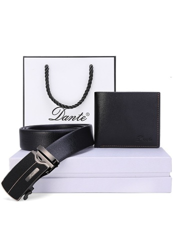 Jackbox black Dante Set of 2 Classic Series Leather Automatic Buckle Men's Belt Wallet 886 08041ACC0FB9F9GS_1