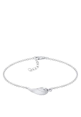 Elli Germany silver 925 Sterling Silver Wing Feather Bracelet EL474AC72GSLMY_1