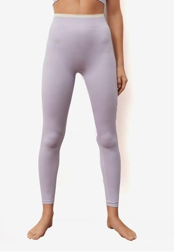 Mango purple Seamless Sporty Leggings 82A43AAAD06420GS_1