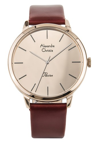 Alexandre Christie brown Alexandre Christie Jam Tangan Wanita - Brown Gold - Leather Strap - 2687 LHLCGCN 89560AC5752A48GS_1