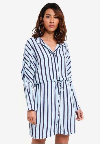 d8c82a5102a TOPSHOP blue Stripe Shirt Dress 4BAC7AAB839DC3GS 1