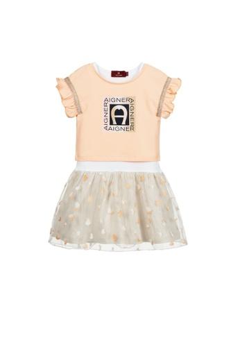 AIGNER KIDS orange AIGNER GIRLS DRESS 55B18KA86D8C33GS_1