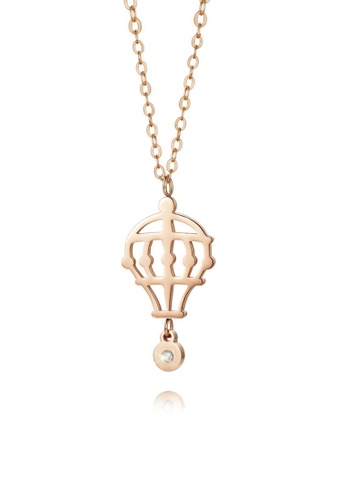 CELOVIS gold CELOVIS Premium - Freedom Hot Air Balloon 0.05ct Diamond Pendant Necklace in Rose Gold B2FEFAC785F8F4GS_1