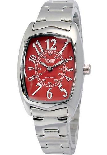 CASIO silver Casio Jam Tangan LTP-1208D-4BDF Silver Merah 1CB10ACBD763BFGS_1