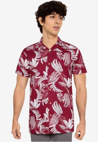 Springfield red Tropical Print Short-Sleeved Shirt 8C054AA746438DGS_1