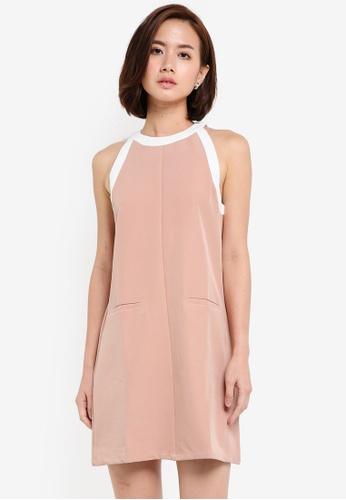 ZALORA pink Collection Contrast Binding Dress 532A7AA3600F19GS_1
