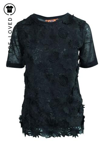 TORY BURCH black Pre-Loved tory burch Black Lace Top ED630AA456A888GS_1