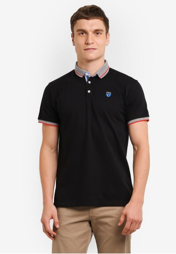 Private Stitch black Polo Tees with Getleman Icon Tees PR777AA0S8Q7MY_1
