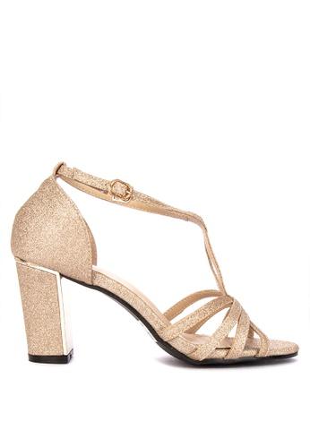09fc92a00 Shop Rock Rose Strappy Block Heel Sandals Online on ZALORA Philippines