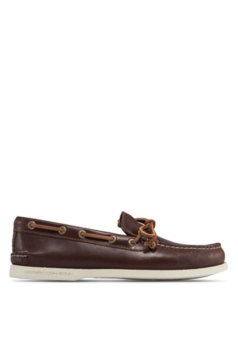 Sperry brown Authentic Original 1-Eye Leather Boat Shoes SP921SH36NXJSG_1
