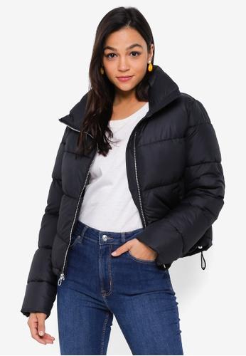 Hollister black Black Fashion Puffer Jacket 32139AA757A45BGS_1