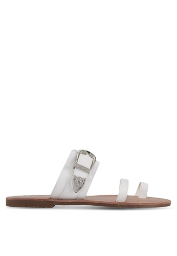 Something Borrowed white Buckle Detail Sandals DD268SH2D0F12BGS_1