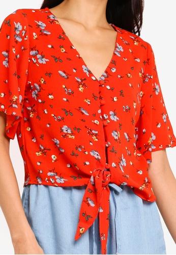 dc9eb6bc1dec7c Shop Brave Soul Denise Tie Front Crop Blouse Online on ZALORA Philippines