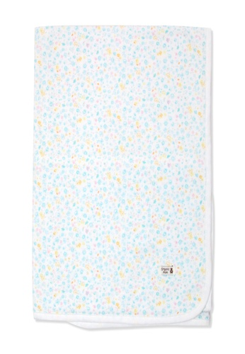 Organic mom green Organic Cotton Joanna Floral Swaddle Blanket F8D99KCCF7FBECGS_1