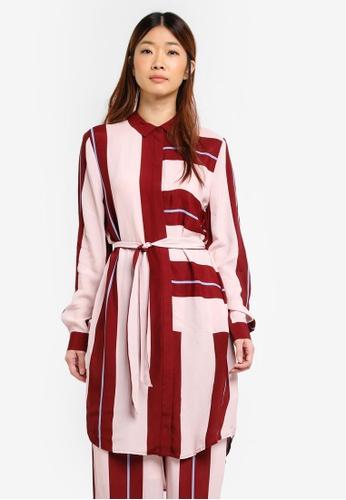 Selected Femme red Mika Long Shirt 0B297AA99AC4E1GS_1