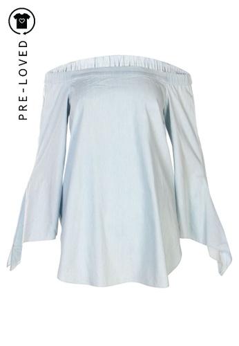 Tibi blue Pre-Loved tibi Off Shoulder Top 1EC90AA0FEDAB3GS_1