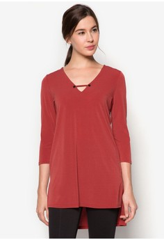 Studded V Neck Tunic