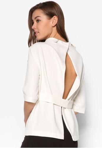 簡約鏤空高領七分袖上衣, 服飾esprit hk, 上衣