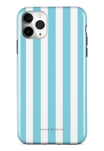 Polar Polar blue Baby Blue Stripe Dual-Layer Tough Case Glossy For iPhone 11 Pro Max B145FACDF37487GS_1