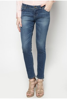Low Waist, Skinny Tapered Denim Pants