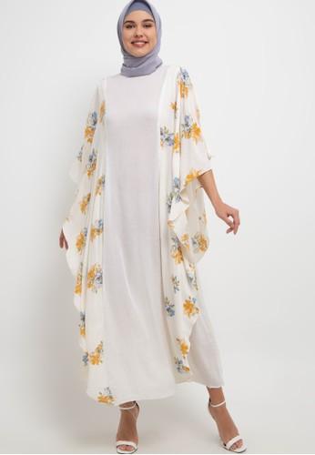 Aira Muslim Butik white Ayura Kaftan C10FFAA827A02FGS_1