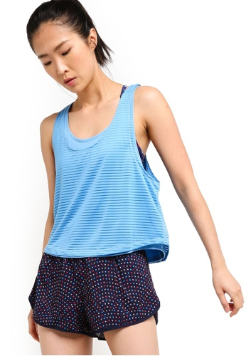 Cotton On Body blue Sheer Scoop Neck Tank Top E302BAACB21F3BGS_1