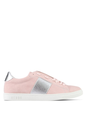 Keddo pink Elastic Detail Laced-Up Sneakers 13CA0SHC546A7CGS_1