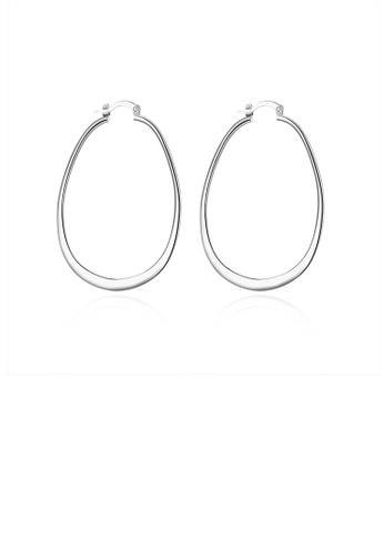 Glamorousky silver Fashion Simple U-shaped Earrings B9678AC876BBC4GS_1