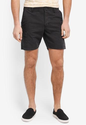 Topman black Cargo Shorts DFC4AAA9564313GS_1
