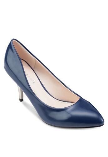 尖頭撞色esprit女裝高跟鞋, 女鞋, 厚底高跟鞋