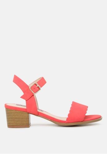 London Rag pink Block Heel Sandals with Buckle Strap 530DFSH992417EGS_1