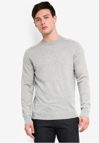 Selected Homme 褐色 素色長袖針織毛衣 C81F1AA95EDCC1GS_1