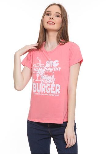 Habitat pink Big Burger T-Shirt 5FA78AA48F4194GS_1