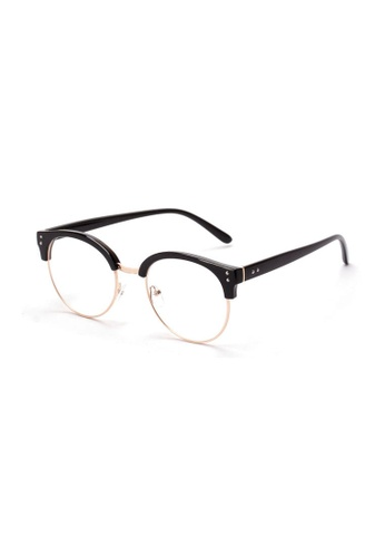 Kyfer's Eyewear & Essentials black and gold Oversize Round Clubmaster II KY376AC02OCRSG_1