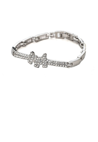 Glamorousky white Blinking Puppy Bracelet with White Austrian Element Crystal F2304ACBE4ABA9GS_1
