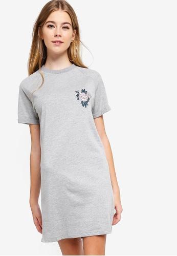 Something Borrowed grey Graphic Raglan Tee Dress CE62BAA4D6ADADGS_1