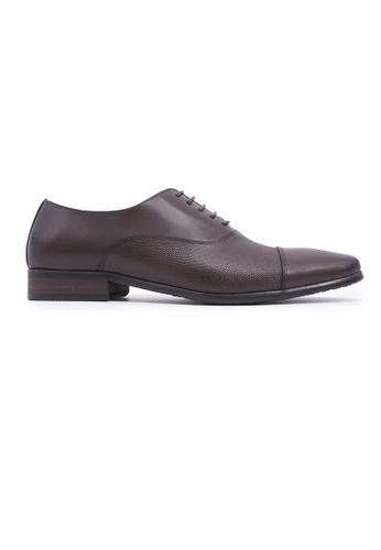 Hanson Bootmaker 褐色 Hanson Bootmaker Lace-up Oxford - Brown 4335DSH7833B40GS_1