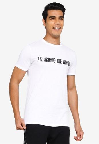 KOTON white All Around The World T-Shirt 8F1E2AA62D57B4GS_1