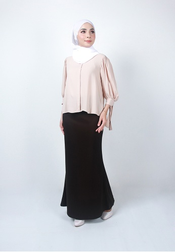 Ladies Jeans brown Modest Office Long Skirt 56502AAC800733GS_1