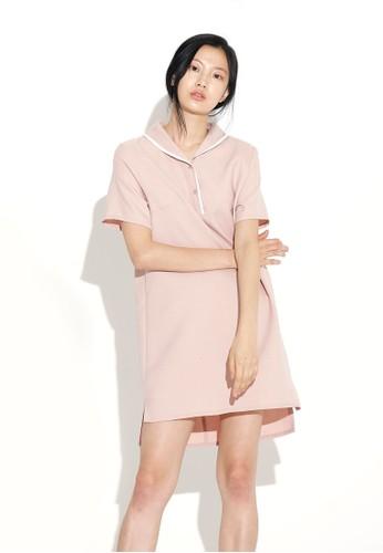 拼色條紋不對稱esprit 台北洋裝, 服飾, 洋裝