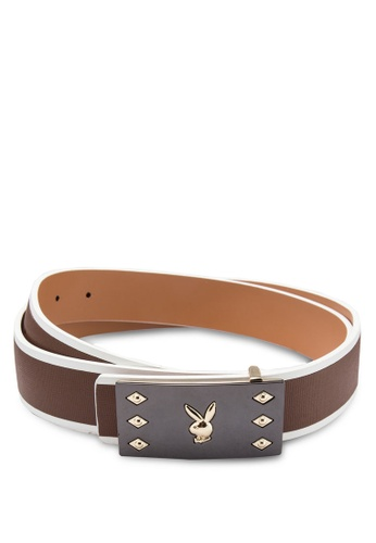 Playboy brown Playboy Belt PL371AC61KQCMY_1