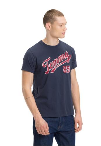 Tommy Jeans blue TJM ESSENTIAL SCRIPT TEE BEDE8AA03949E1GS_1