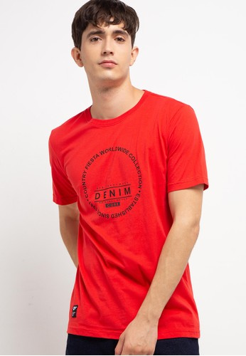 Country Fiesta red Men'S Tshirt Young 0AD65AA3C3B97FGS_1