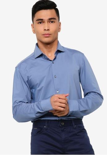 BOSS navy Jason Long Sleeve Shirt 17834AAAC16FFEGS_1