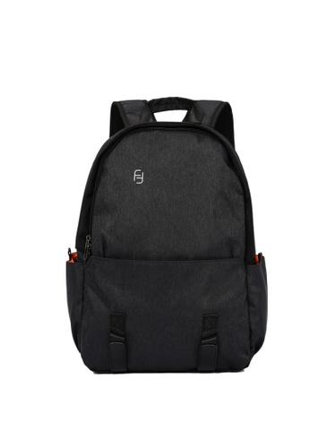 Lara black Plain Zipper Backpack - Black 0738AAC28F1BADGS_1