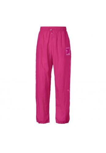 puma pink Evide Woven Women's Track Pants 31C0DAAD25419CGS_1