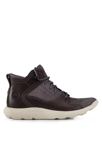 Timberland grey Fly Roam Leather Hiker Sneakers TI063SH0RX4LMY_1